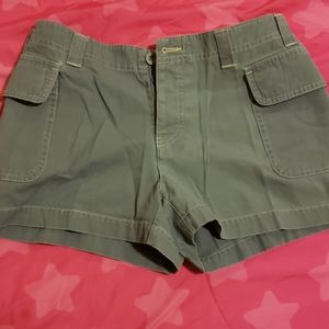 Womens button fly cargo shorts